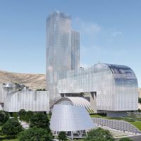 طرح پیشنهادی استودیو طراحی معماری کوروش رفیعی و کوپ هیملبلا برای مسابقه بینالمللی طراحی ساختمان اداری شرکت ملی گاز ایران