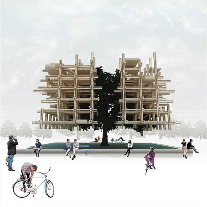 طرح پیشنهادی میترا قاسمی برای نهمین دوره جایزه معماری میرمیران (معماری بایونیک)