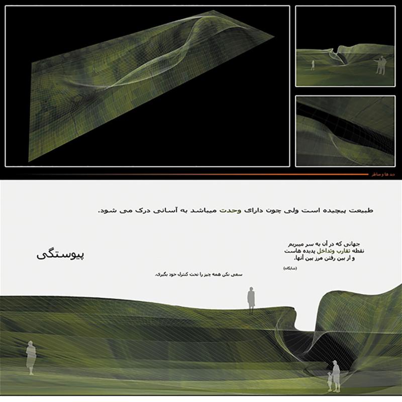 طرح پیشنهادی کمیل شفق برای پنجمین دوره جایزه معماری میرمیران (معماری و طبیعت سبز)