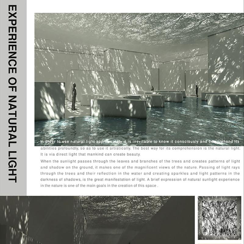 طرح پیشنهادی فرشاد کازرونی برای سومین دوره جایزه معماری میرمیران (پیوند ناگسستنی نور و معماری)