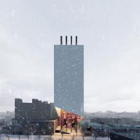 طرح پیشنهادی علیرضا تغابنی (دفتر معماری دیگر) برای مسابقه طراحی پلاسکوی نو