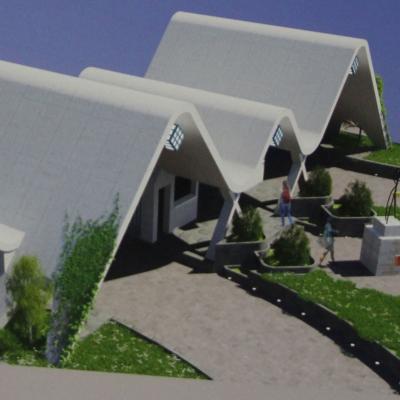 طرح پیشنهادی نظام عامری (مهندسین مشاور نظام عامری - کمونه - خسروی) برای مسابقه طراحی سردر دانشگاه صنعتی شریف