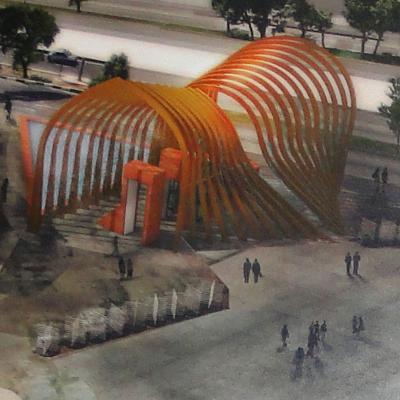 طرح پیشنهادی محمدحسن مومنی برای مسابقه طراحی سردر دانشگاه صنعتی شریف