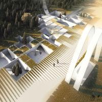 طرح پیشنهادی دفتر معماری شیوه دگردیس برای مسابقه گذر سرو