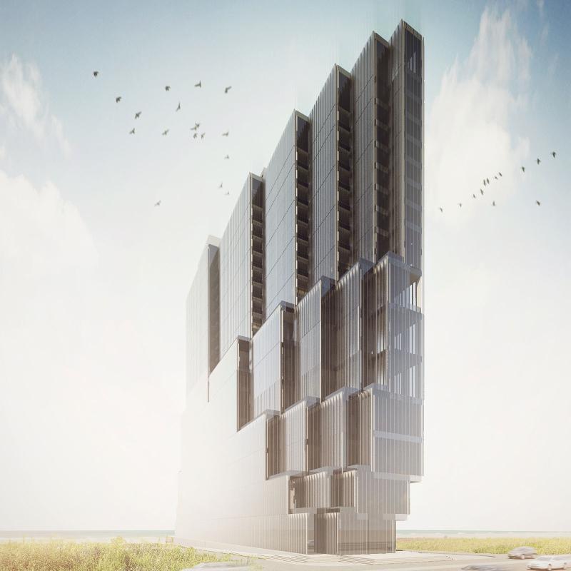 طرح پیشنهادی دفتر معماری شیوه دگردیس برای هتل ناواک