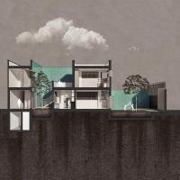 خانه حیاط آبی