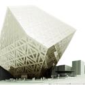 طرح پیشنهادی شاخه تجربی معماری کلانشهر و شرکت وی.ام.ایکس برای مسابقه بین المللی طراحی معماری ساختمان مرکزی بورس اوراق بهادار