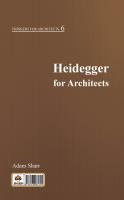 هايدگر برای معماران