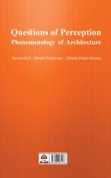 پرسش های ادراک، پدیدارشناسی معماری